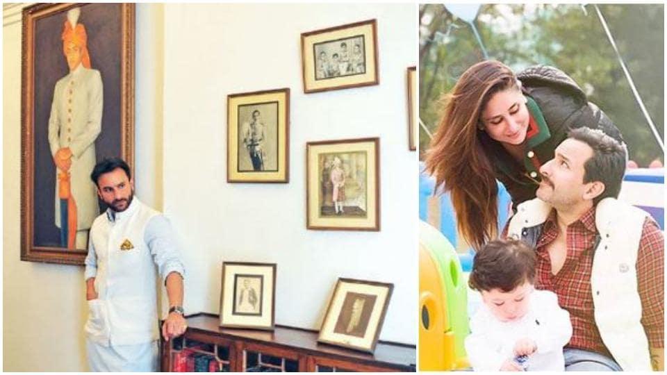 Saif Ali Khan and Kareena Kapoor visit Pataudi Palace in winters.