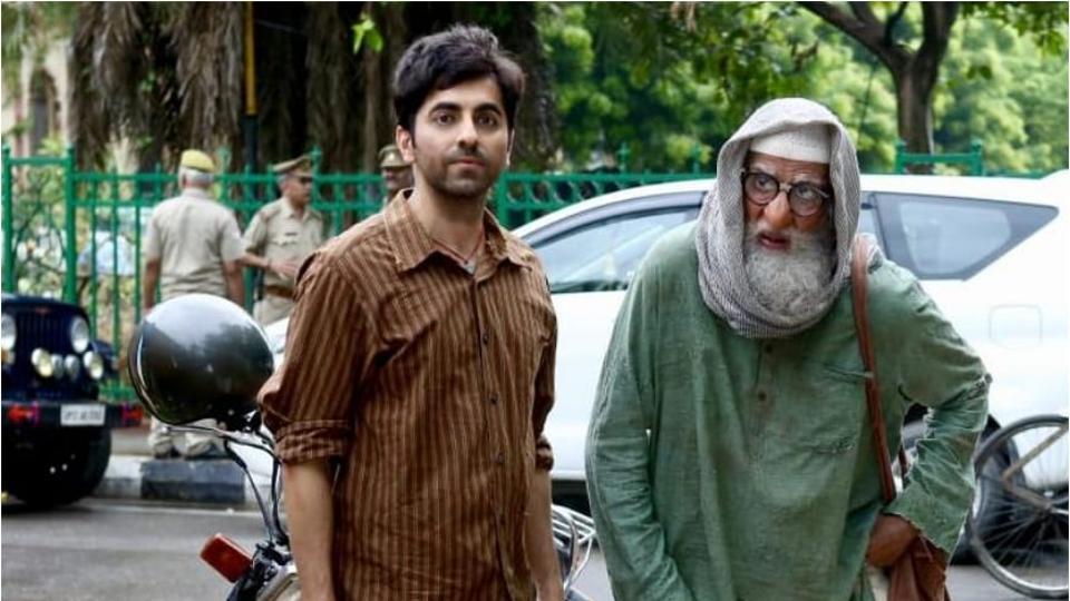 Amitabh Bachchan and Ayushmann Khurrana in a still from Gulabo Sitabo.