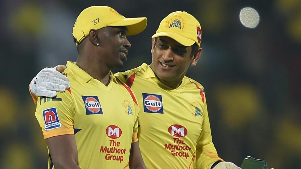 CSK skipper MS Dhoni and Dwayne Bravo