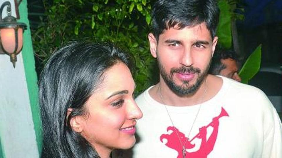 Sidharth Malhotra and Kiara Advani at her birthday party.