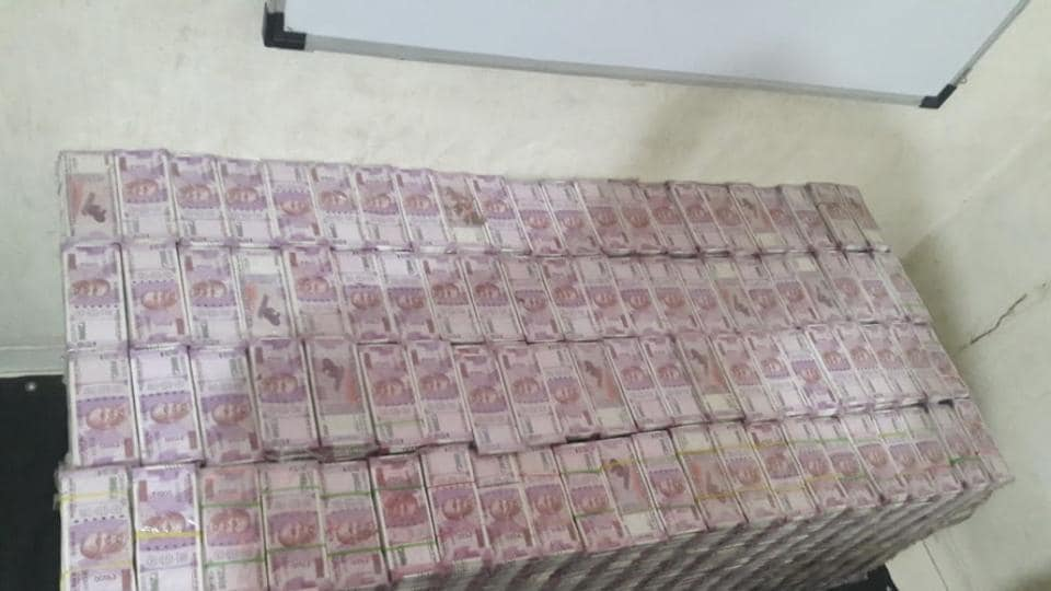The officials said that the fake notes are being counted and that it will take some time to calculate the exact value of the stash