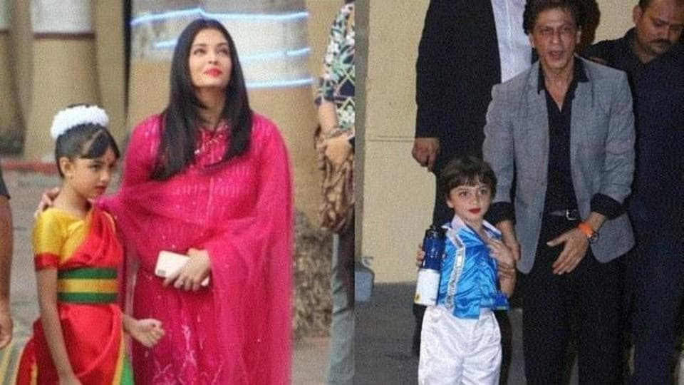 AbRam is the son of Shah Rukh Khan and Gauri while Aaradhya is Amitabh Bachchan's granddaughter.