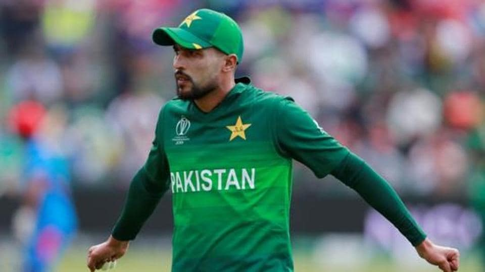 Pakistan's Mohammad Amir during amatch.