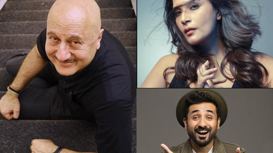 Anupam Kher, Richa Chadha and Vir Das have shared their respective series' on social media.