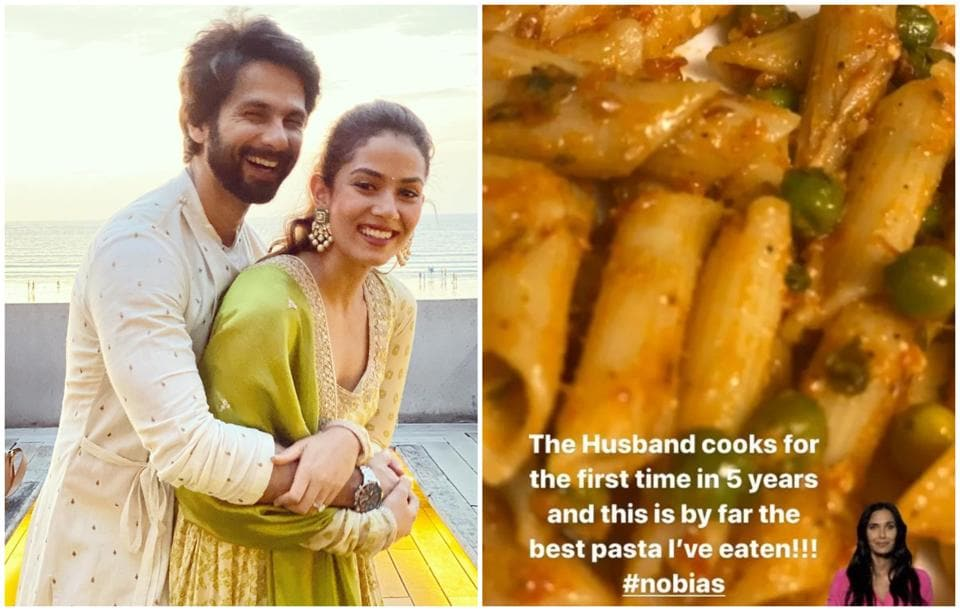 Shahid Kapoor wows Mira Rajput as he cooks for the first time in 5 years: 'By far the best pasta I have ever eaten' – bollywood