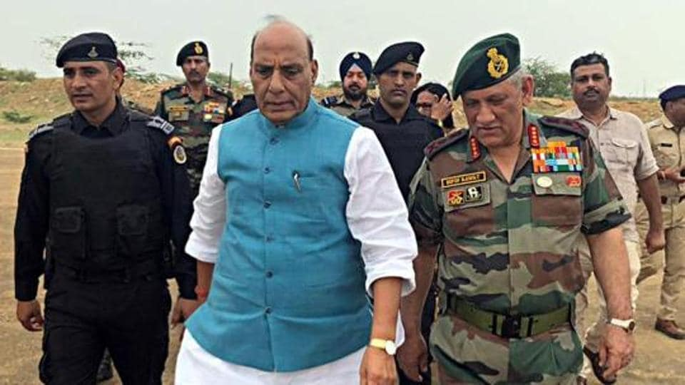 Defence Minister Rajnath Singh on Friday held a meeting with Chief of Defence Staff General Bipin Rawat and the services chiefs for reviewing situation in Ladakh.