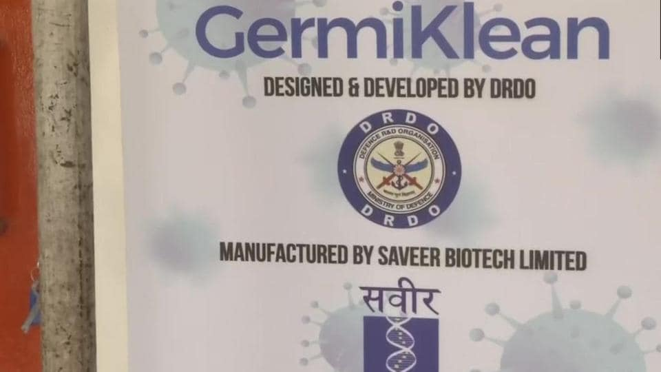 """DRDO designed and developed a dry heat treatment chamber named """"GermiKlean"""". This chamber is designed to sanitise 25 pairs of uniforms within 15 minutes."""