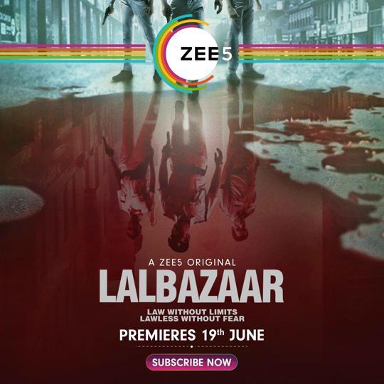 Ajay Devgn shared the teaser of cop drama Lalbazaar.