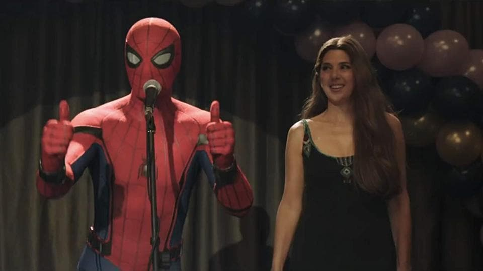 Marisa Tomei as Spider-Man's Aunt May.