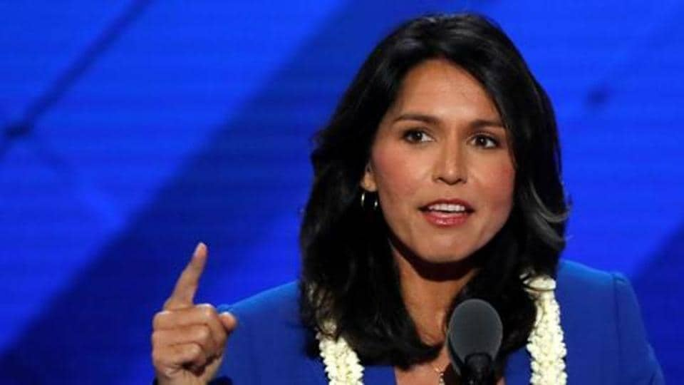 Tulsi Gabbard's address came amidst protests in the US against the killing of African-American