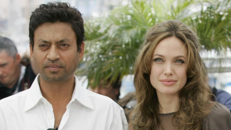 In this May 21, 2007 file photo, Indian actor Irrfan Khan, from left, American actress Angelina Jolie at the 60th International film festival in Cannes.