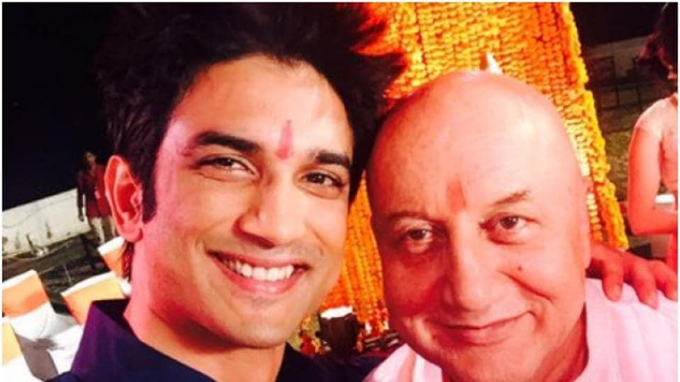 Anupam Kher played Sushant Singh Rajput's father in MS Dhoni biopic.