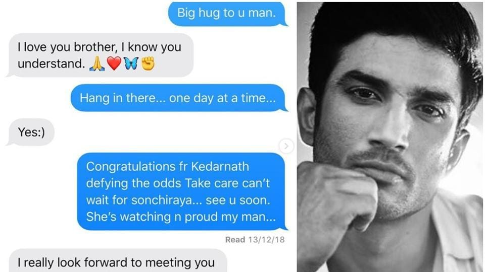 Arjun Kapoor shared a glimpse of his last interaction with Sushant Singh Rajput.