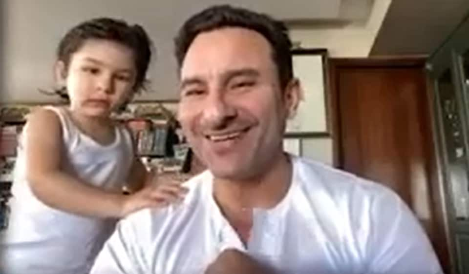 Saif Ali Khan was interrupted by Taimur Ali Khan during a recent interview.