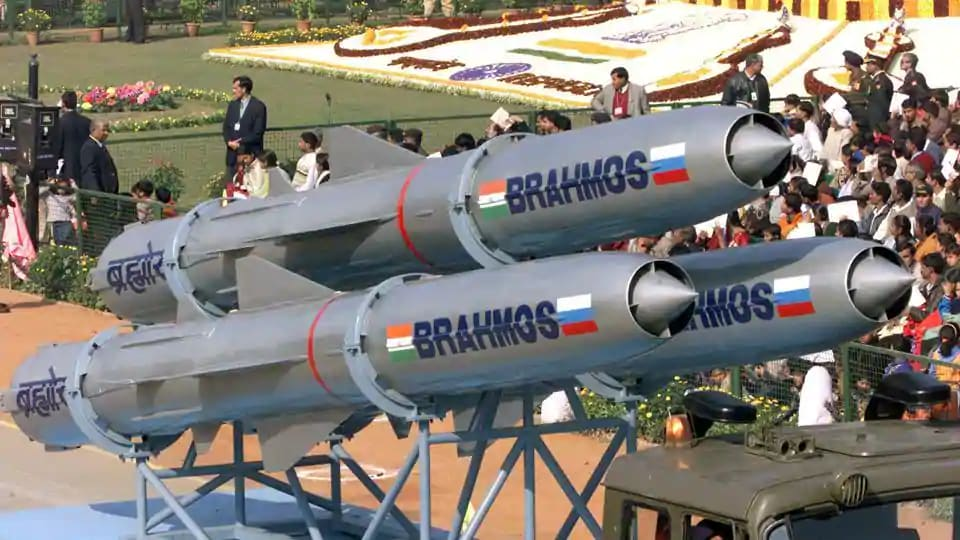 Brahmos missiles are displayed during the annual Republic Day Parade, New Delhi.