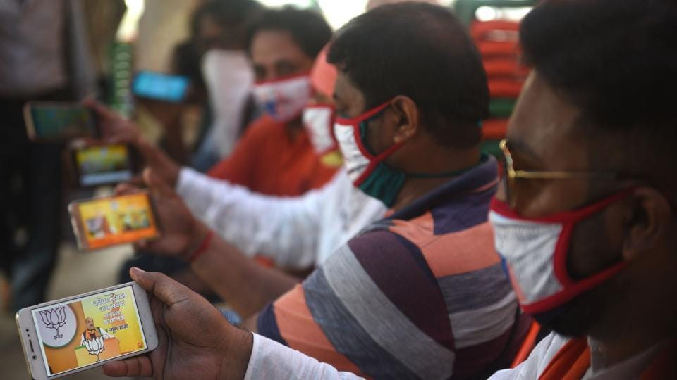 The BJP was among the first parties to understand the power of social media and it is no surprise that it has now become the first party to innovate with mass e-rallies