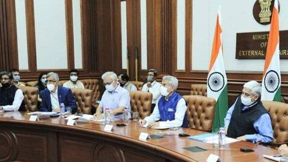 """On Wednesday, Jaishankar, in a phone call with Chinese foreign minister Wang Yi, conveyed India's protest in """"strongest terms"""" to Beijing over the violent face off and said that China had attempted to erect a structure on the Indian side of the LAC.  (Photo @DrSJaishankar)"""