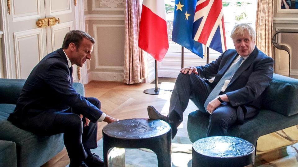French President Emmanuel Macron and British Prime Minister Boris Johnson.