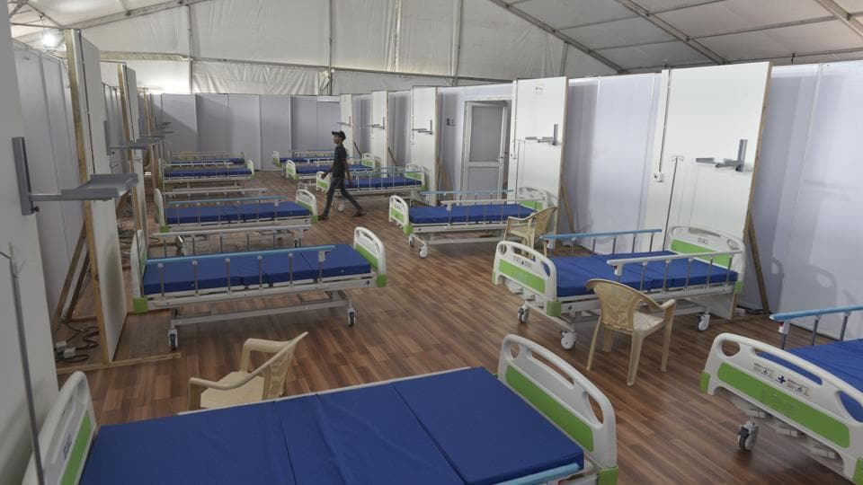 Brihanmumbai Municipal Corporation's (BMC) mobile application, Air venti, which shows the availability of hospital beds at private, government and BMC-run hospitals.