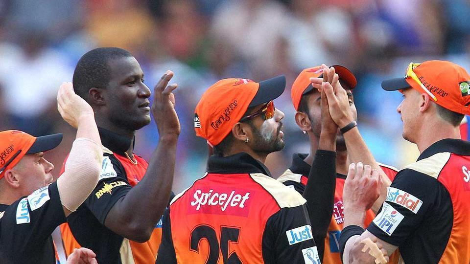 File photo of Darren Sammy playing for Sunrisers Hyderabad in the Indian Premier League.