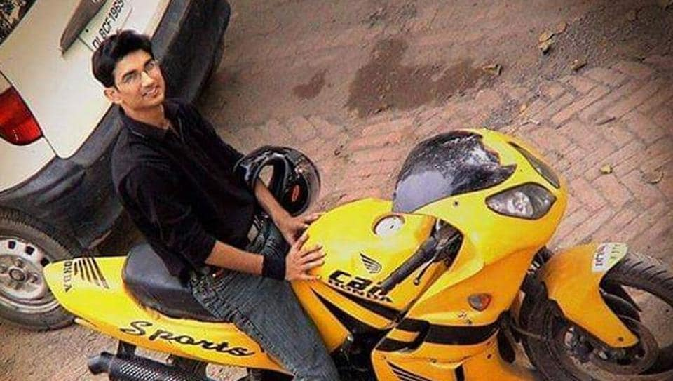 Sushant Singh Rajput with his first bike.