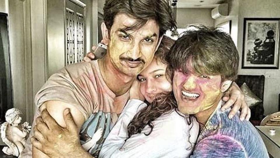 Sushant Singh Rajput, Ankita Lokhande and Sandip Singh pose in happier times.