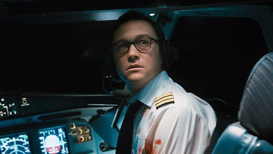 7500 movie review: Joseph Gordon-Levitt in a still from the new Hitchockian thriller, out on Amazon Prime.