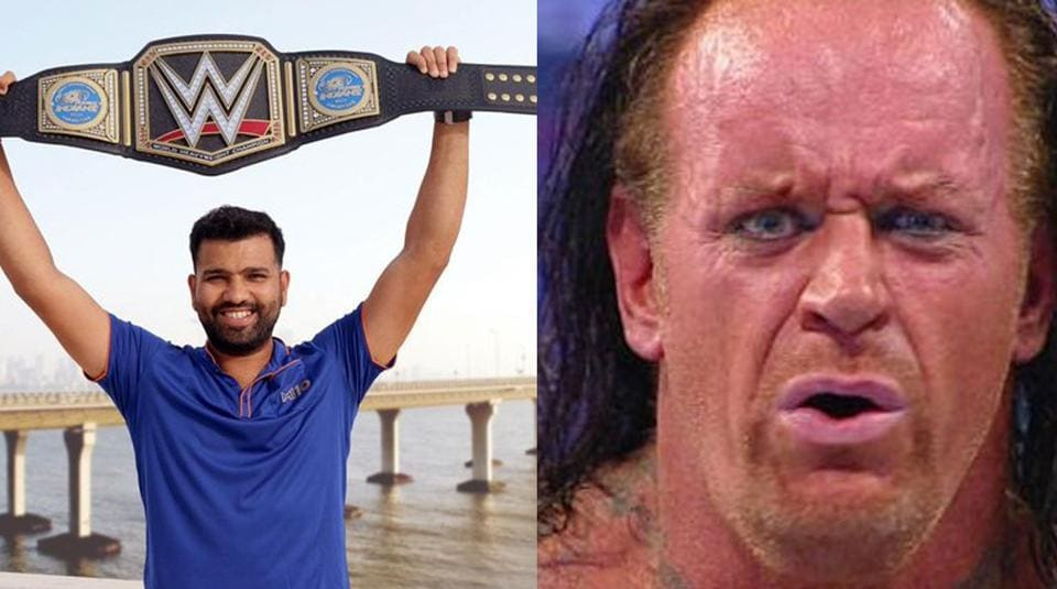 Mumbai Indians shared a picture of Rohit Sharma, while paying tribute to The Undertaker.