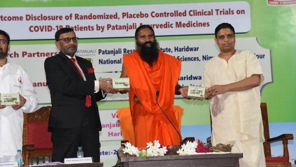 India: Patanjali launched ayurvedic medicine named 'Coronil and Swasari' for treating COVID-19