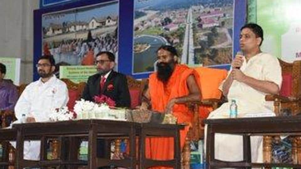 Baba Ramdev said that an app will be launched for the delivery of the corona kit. (Photo @pyptharidwar)