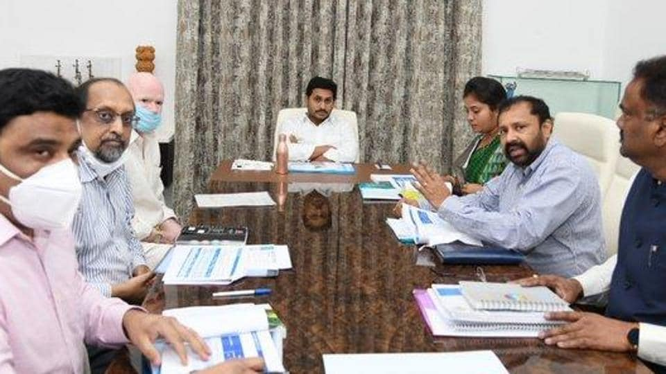 Last week, the Jagan government served legal notices on Chandrababu Naidu and two Telugu dailies for publishing his statements alleging irregularities in restoration of mining leases to Saraswati Power in Guntur district. (Photo @AndhraPradeshCM)