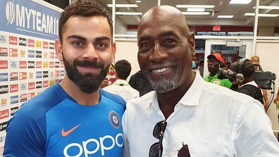 Virat Kohli met the great Viv Richards last August in West Indies.