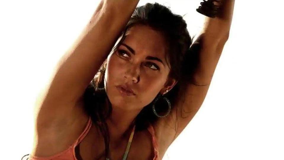 Megan Fox in a still from Transformers.