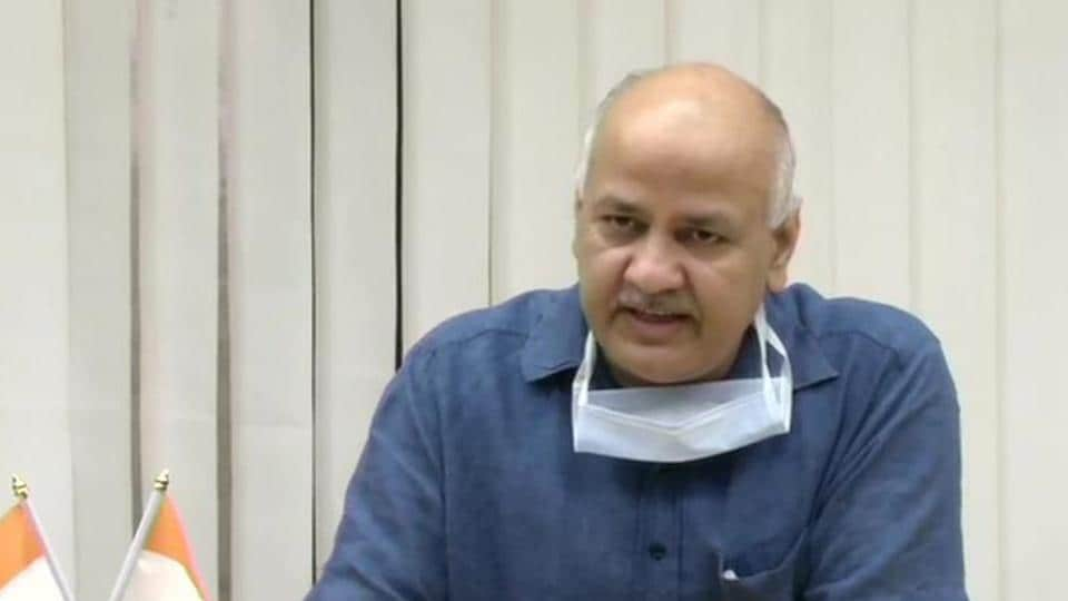 Delhi's deputy chief minister Manish Sisodia addressing a briefing on the new Covid-19 guidelines, in New Delhi on Wednesday.