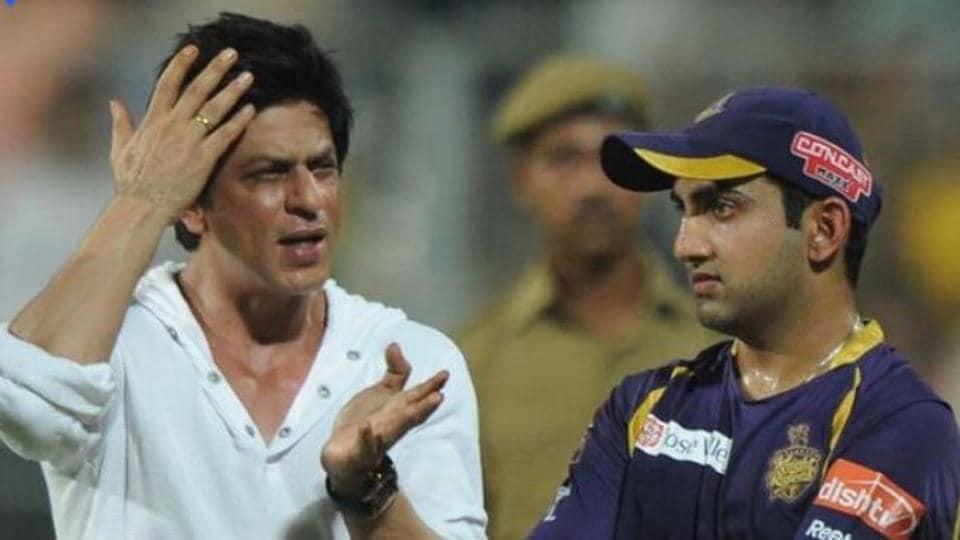 Shah Rukh Khan with Gautam Gambhir