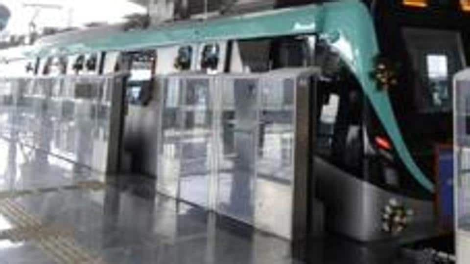 Sector 50 metro station falls on the Aqua line metro service that connects the twin cities of Noida and Greater Noida