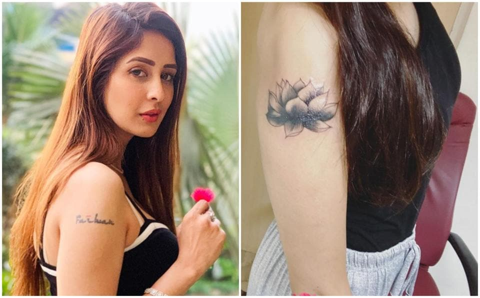 Chahatt Khanna has covered up the tattoo of her ex Farhan Mirza's name.