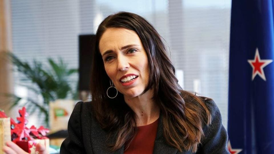 New Zealand's Prime Minister Jacinda Ardern speaks during an interview.