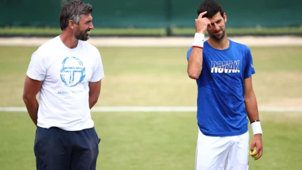 Goran Ivanisevic coaches top-ranked Novak Djokovic.
