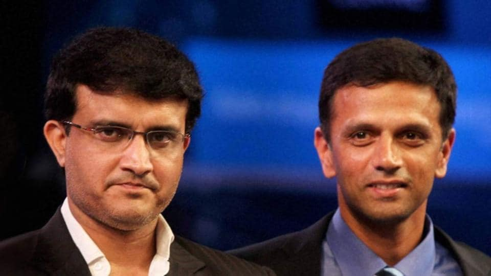 Sourav Ganguly and Rahul Dravid.