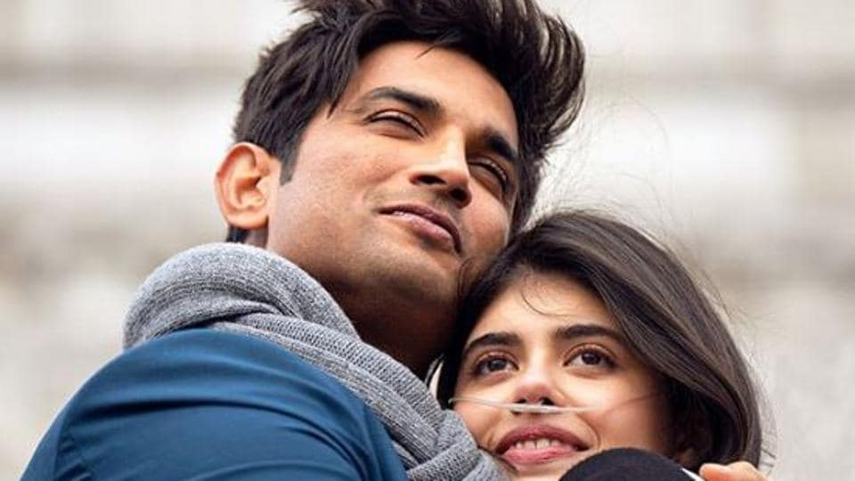 Sushant Singh Rajput and Sanjana Sanghi in a poster for Dil Bechara.