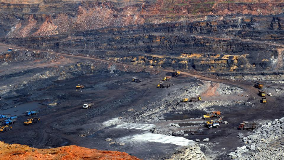 Open cast coal mines at Jharia in Dhanbad.