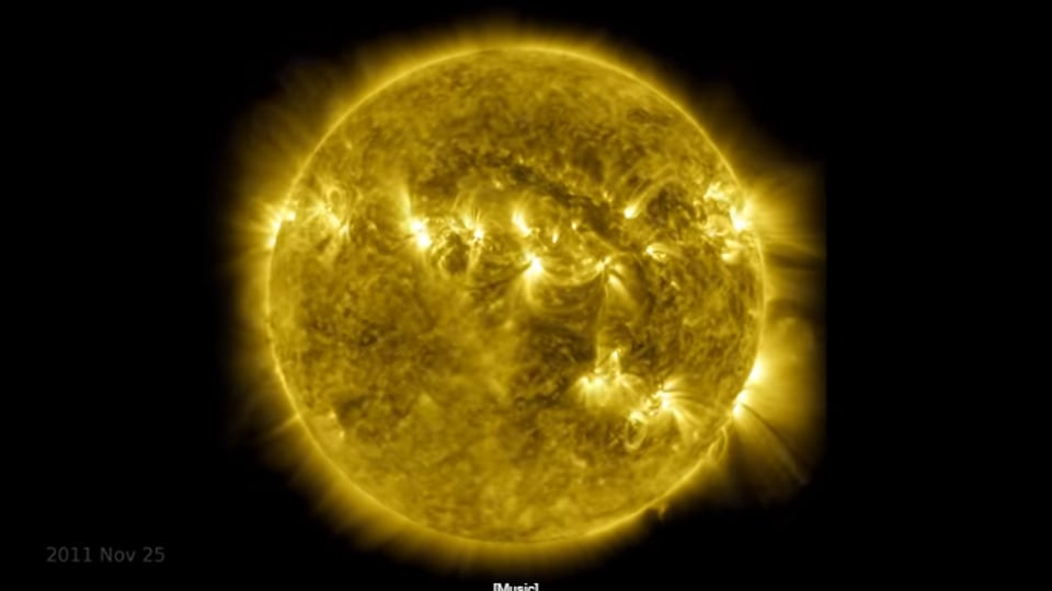 The image is taken from the timelapse video of the Sun shared by NASA.