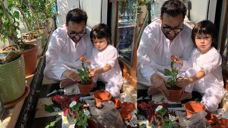 Saif Ali Khan loves to spend time in the company of his plants, and even son Taimur Ali Khan has followed in his footsteps. Here are few more celebrities who have a penchant for gardening.