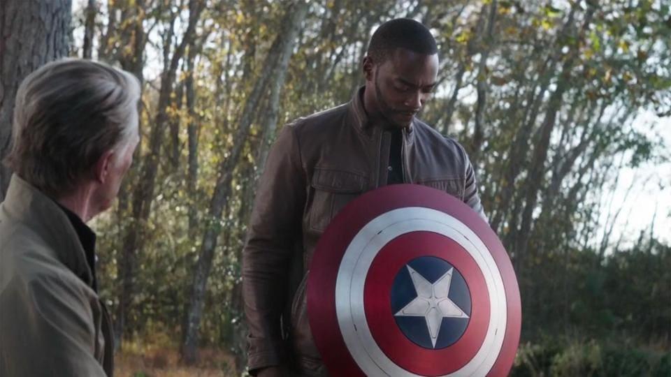 Anthony Mackie as Sam Wilson in Avengers: Endgame.