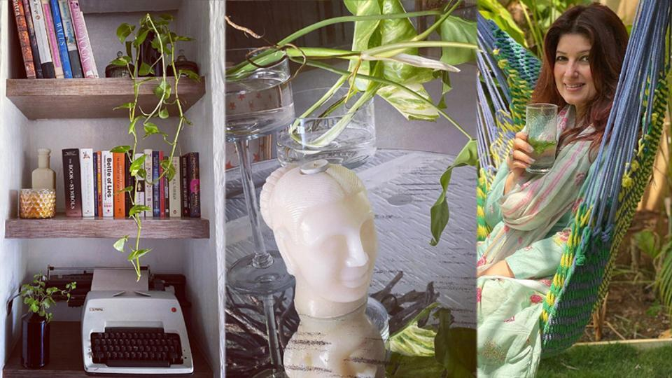 Twinkle Khanna has shared two pictures of her house on Instagram.