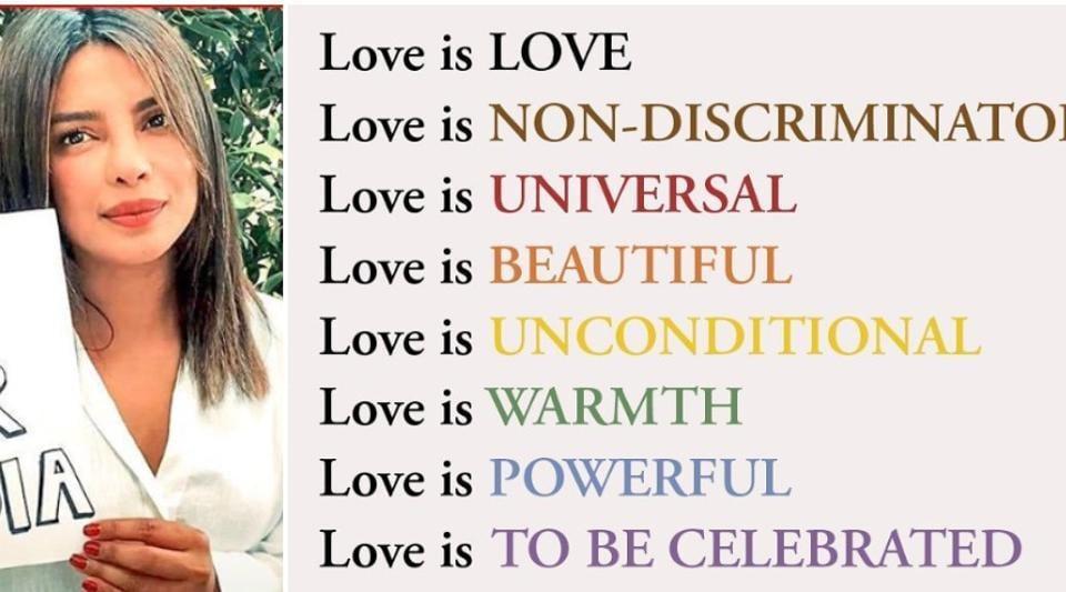 Priyanka Chopra posted a note on love on Instagram.