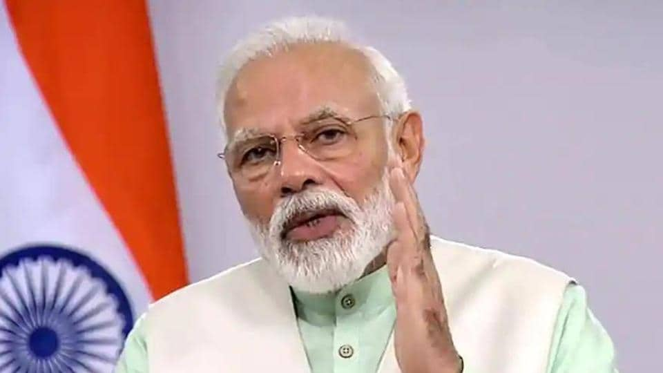 """PM Modi talked about his """"vocal for local"""" campaign in which he has called for the promotion of indigenous products to make India self-reliant."""