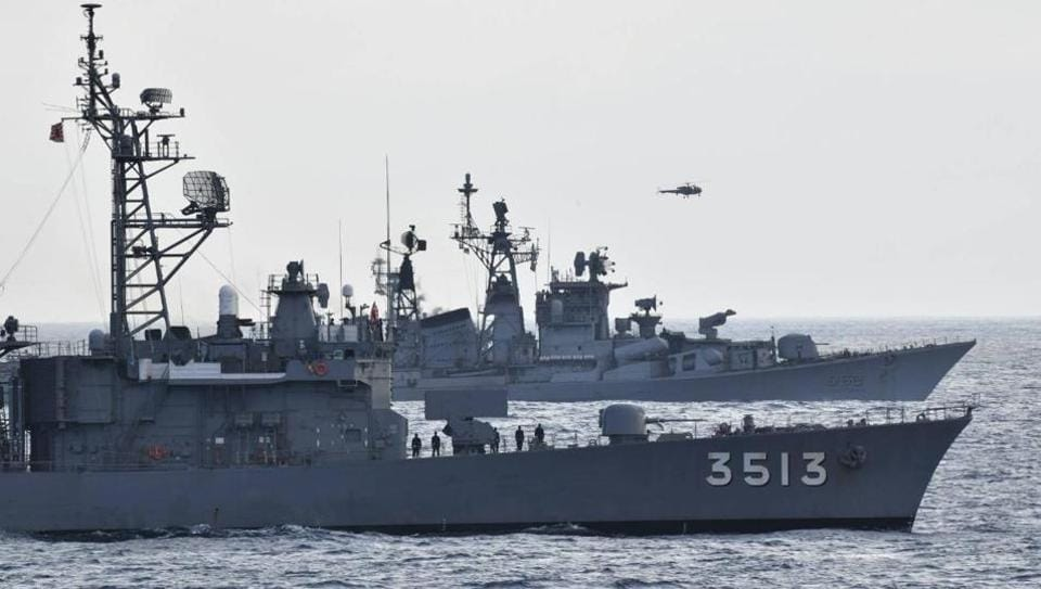 JS Kashima and JS ShimayukI (TV 3513), the JMSDF Training Squadron, conducted an exercise with INS Rana and INS Kulish, Indian Navy. This is the 15th exercise undertaken by the navies of these two nations in the last three years.