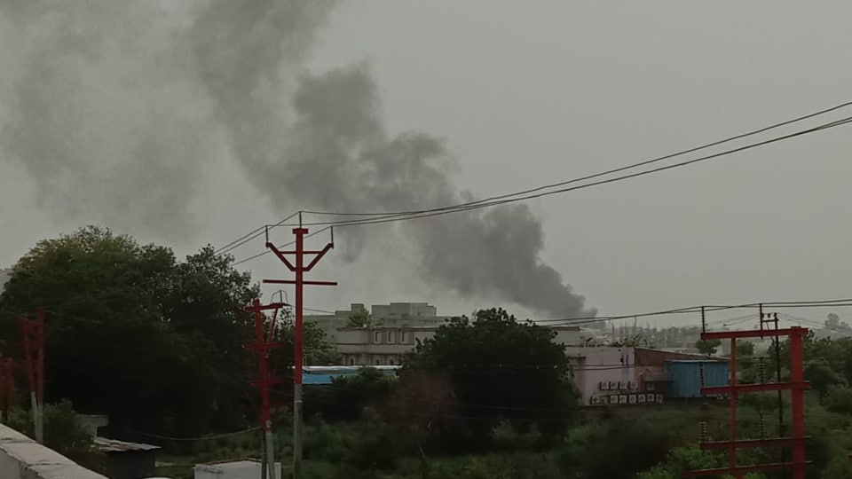 The officials said that the factory is located under the jurisdiction of Kavi Nagar police station area and used for manufacturing of chemicals.